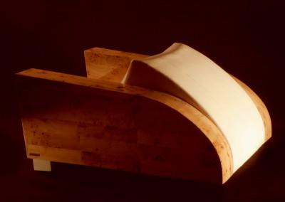 Sporter sofa, leather, mapa root tree, 2005