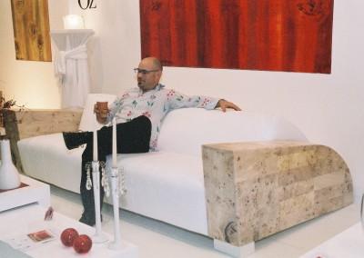 Sporter sofa, leather, mapa root tree